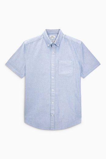 Next Kurzärmliges Oxford-Hemd mit Tupfenprint