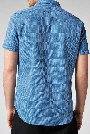 Next Strukturiertes Kurzarmhemd