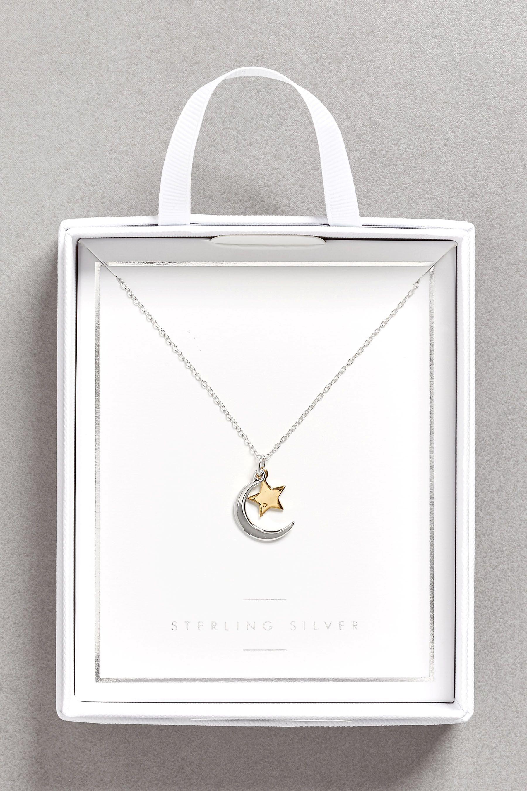 Next Halskette mit Stern- und Mond-Anhänger