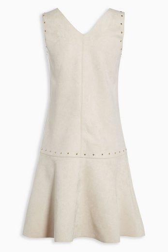 Next Kleid aus Kunstveloursleder mit Nieten