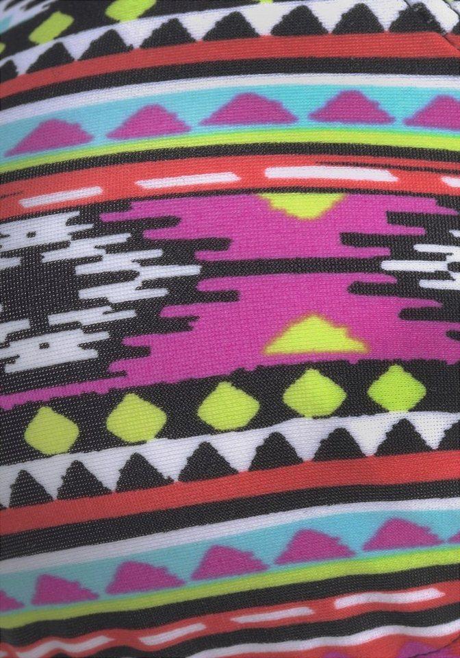 - Damen LASCANA Triangel-Bikini im kontrastreichen Ethnomuster bunt, mehrfarbig, schwarz | 04893865777486