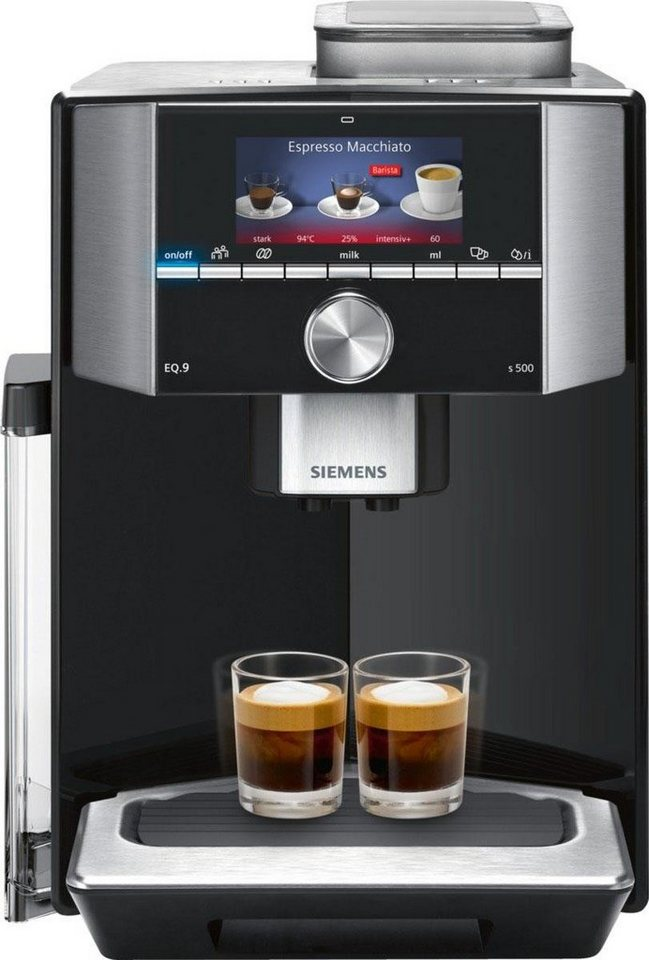 siemens kaffeevollautomat eq 9 s500 ti915539de der. Black Bedroom Furniture Sets. Home Design Ideas