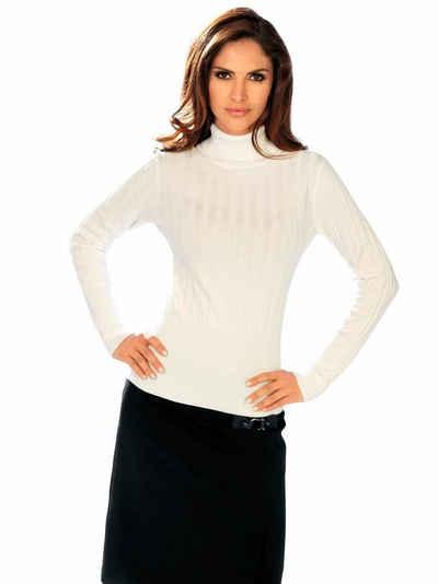 super popular 31c58 86db2 Rollkragenpullover in weiß online kaufen | OTTO