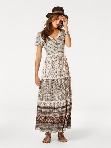 Linea Tesini By Heine Maxi Dress With Tie Belts