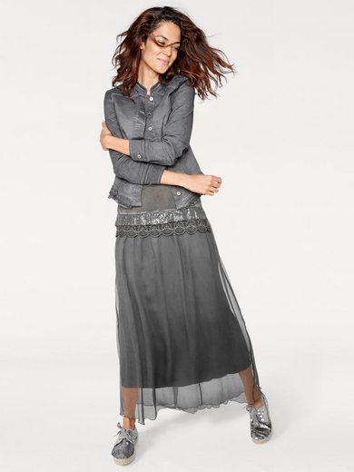 Linea Tesini By Heine Denim Jacket With Lace