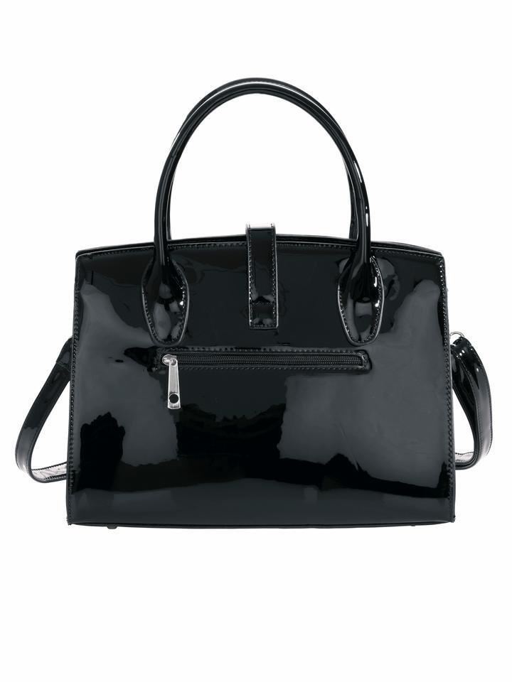 Damen Heine Tasche in Lackoptik schwarz | 04250892301266