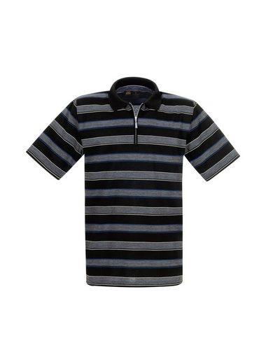 Trigema Ringel-Poloshirt mit Reißverschluss