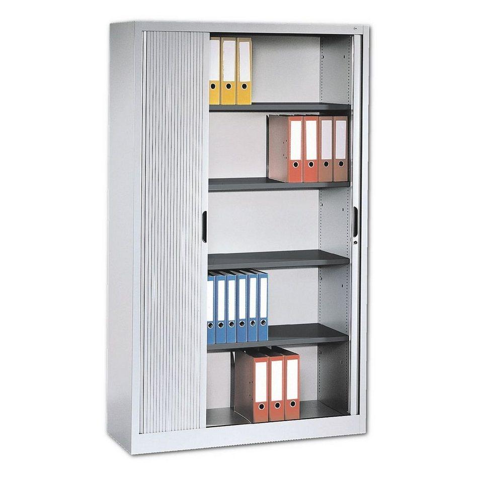 cp stahlschrank mit rollladen 100 x 198 cm omnispace online kaufen otto. Black Bedroom Furniture Sets. Home Design Ideas