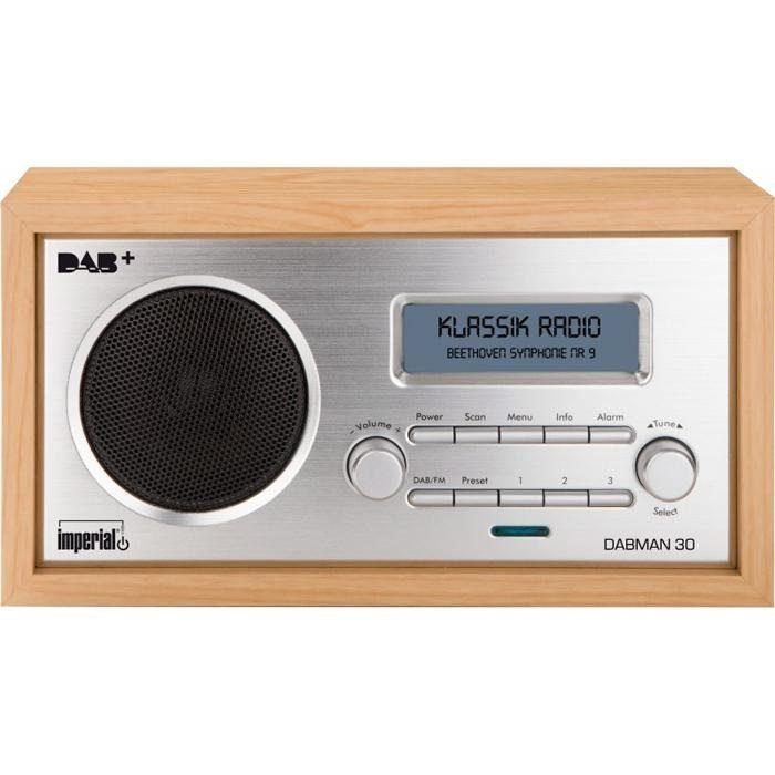 IMPERIAL Digitalradio für DAB+/DAB/UKW-Empfang (Retro; Aux in) »DABMAN 30«