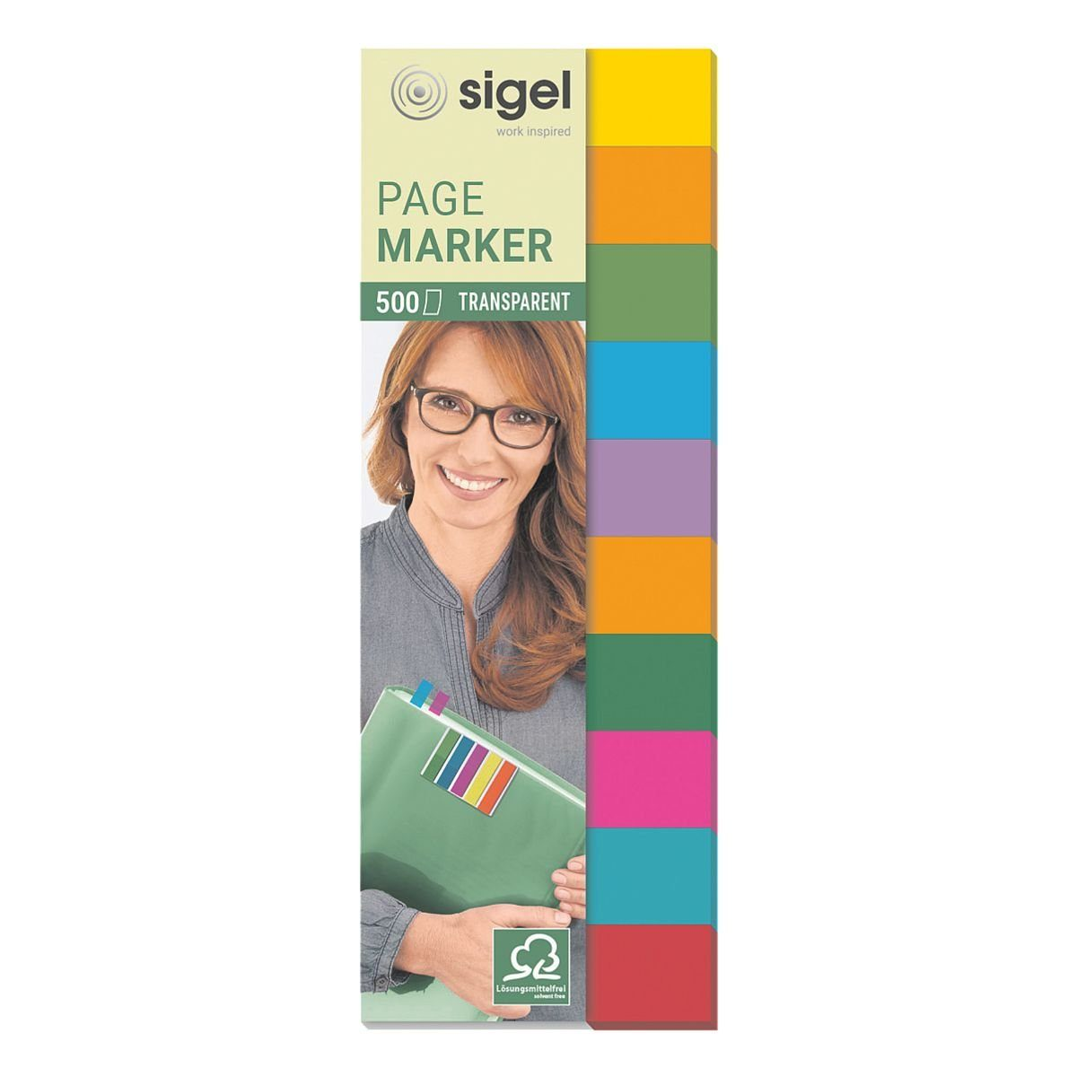Sigel Haftmarker HN684 44 x 12,5 mm »Multicolor«