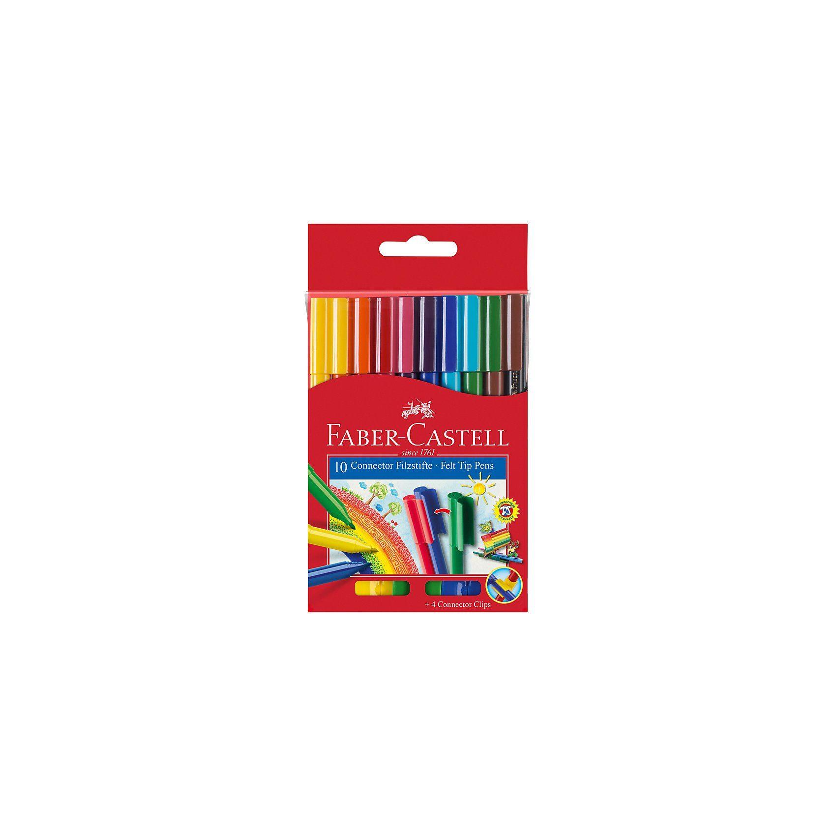 Faber-Castell Filzstifte CONNECTOR, 10 Farben