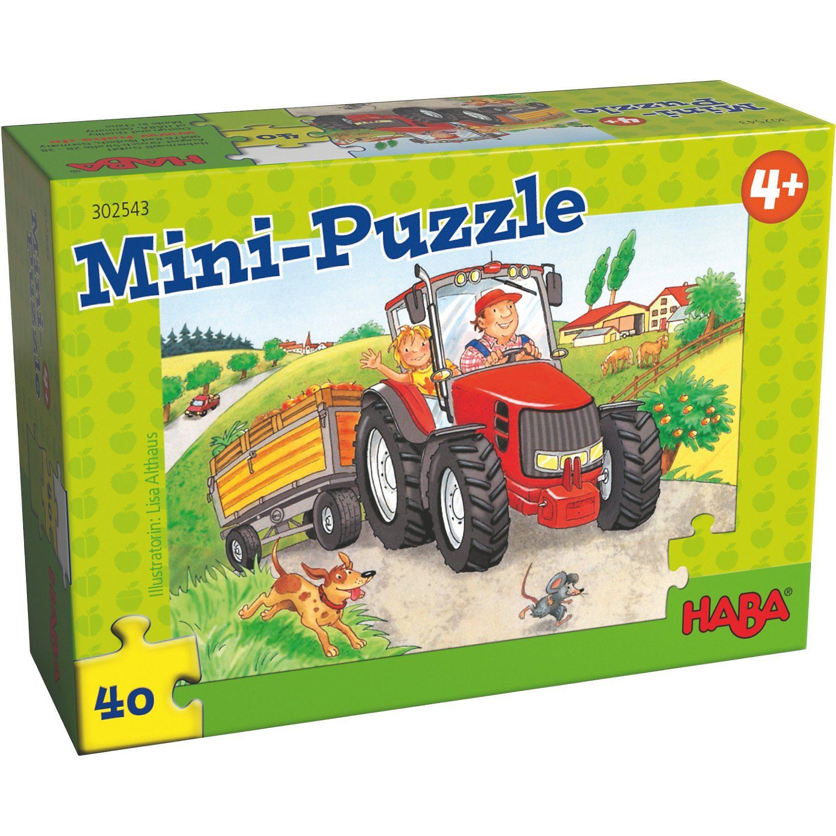 Haba Mini-Puzzle Bauernhof