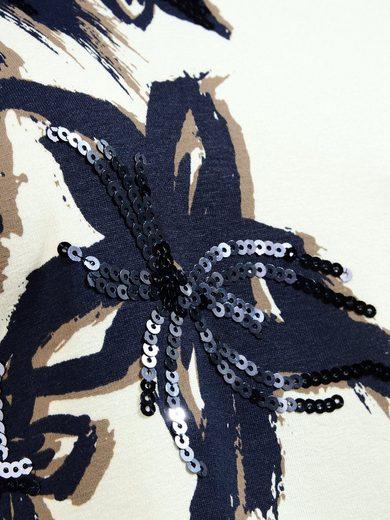 Mocca by J.L. Print-Shirt Blütenprint