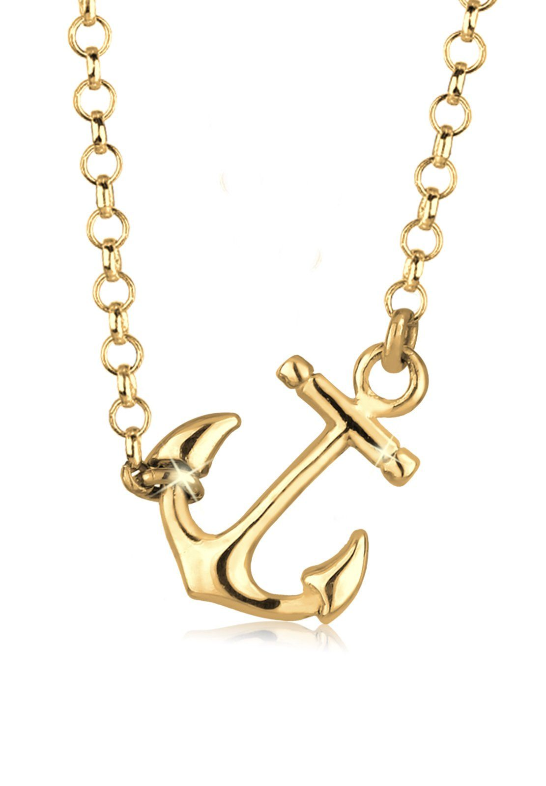 Elli Halskette »Anker Filigran Dezent 925 Sterling Silber«