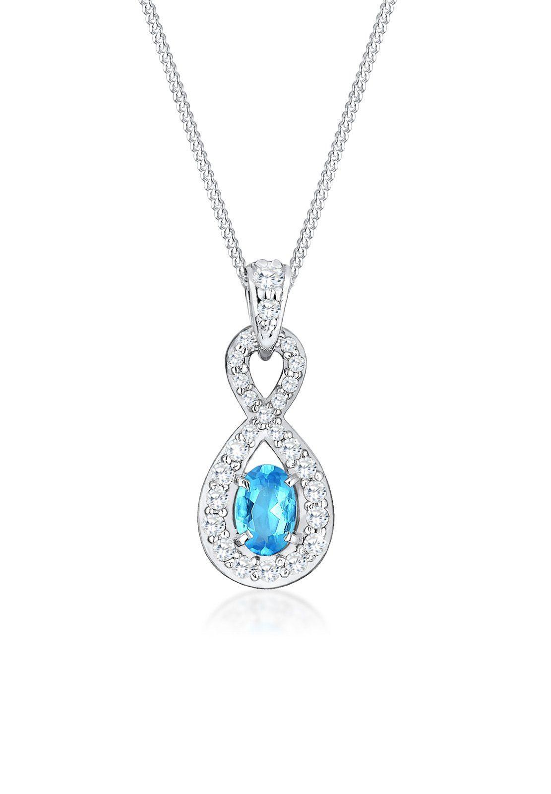 Elli Halskette »Unendlichkeit Zirkonia 925 Sterling Silber«