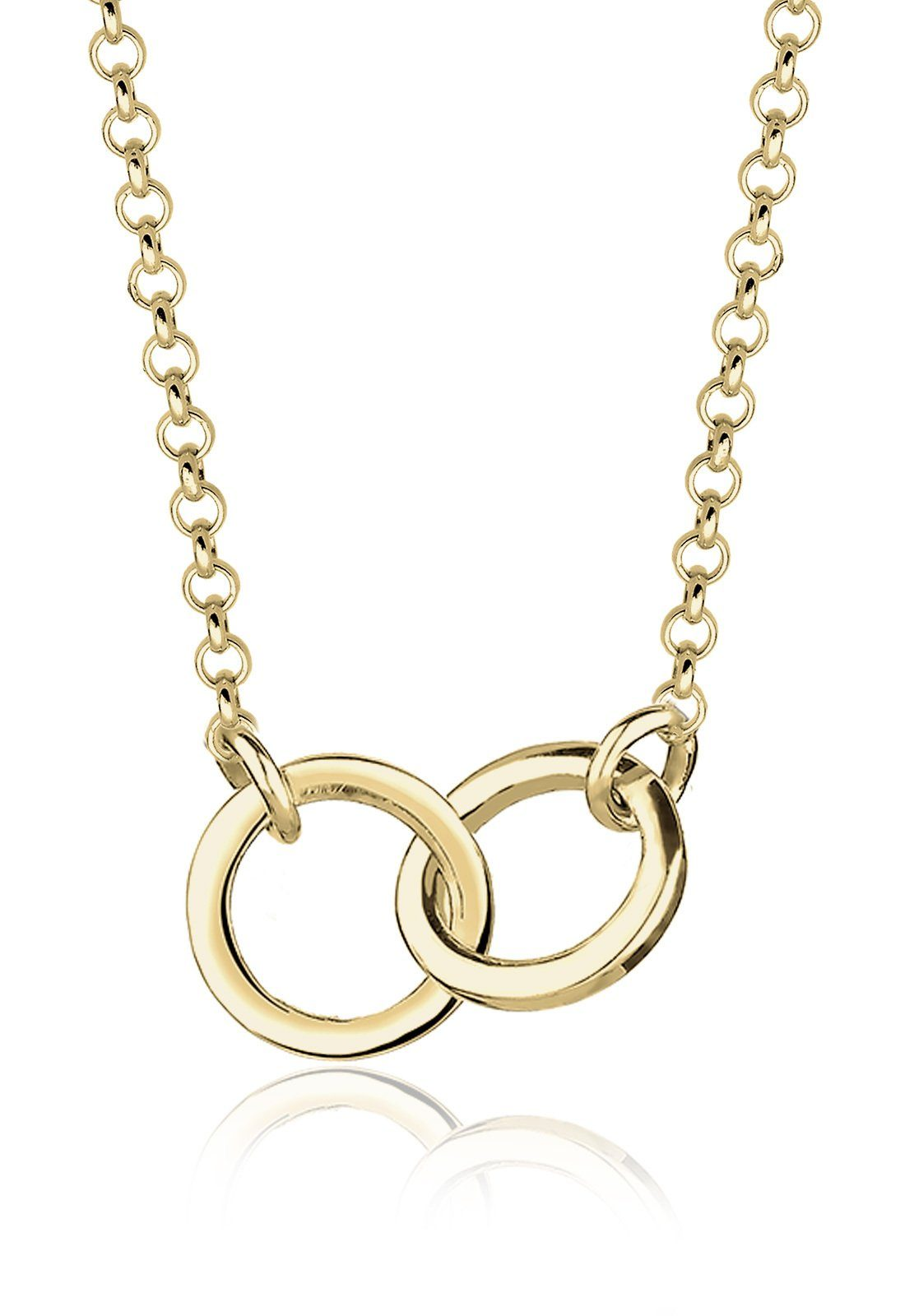 Elli Halskette »Kreise Geo Minimal 375 Gelbgold«