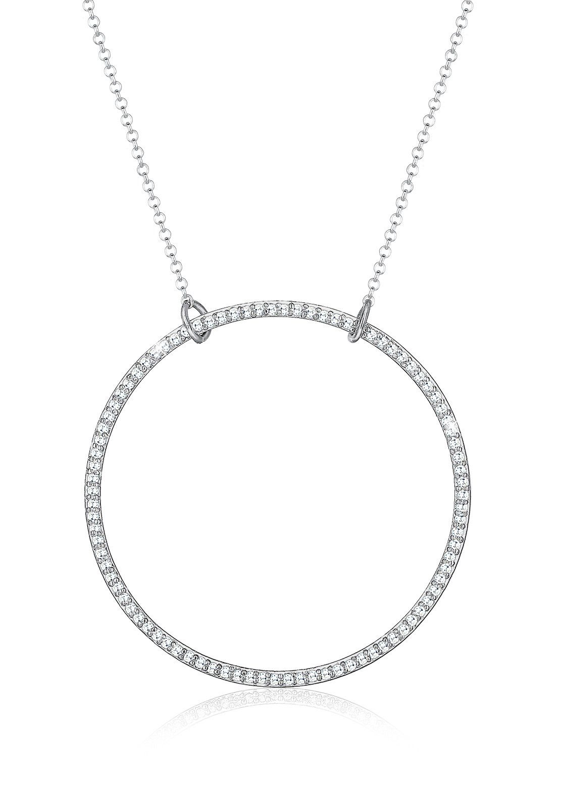 Elli Halskette »925 Sterling Silber Zirkonia Kreis«
