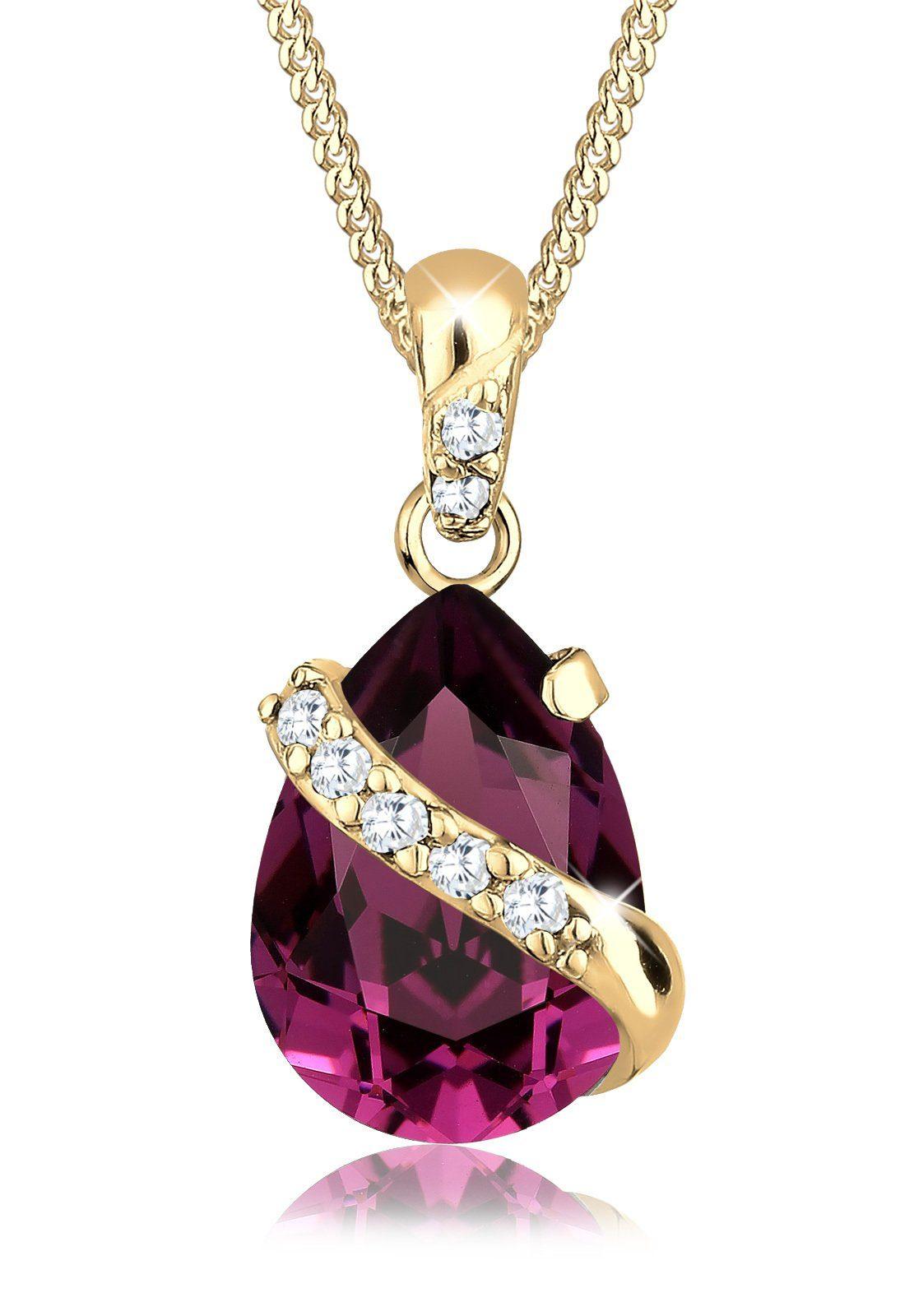 Goldhimmel Halskette »Tropfen Swarovski® Kristalle 925 Silber vergoldet«