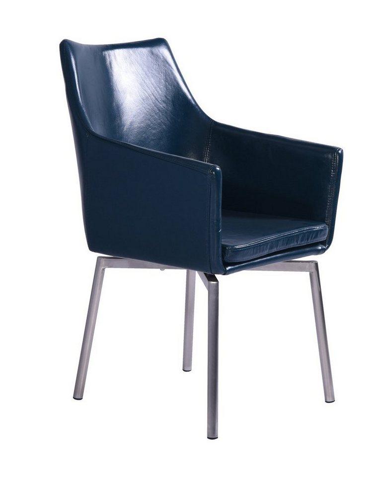 kasper wohndesign drehstuhl stoff oder leder edelstahl versch farben cali online kaufen otto. Black Bedroom Furniture Sets. Home Design Ideas