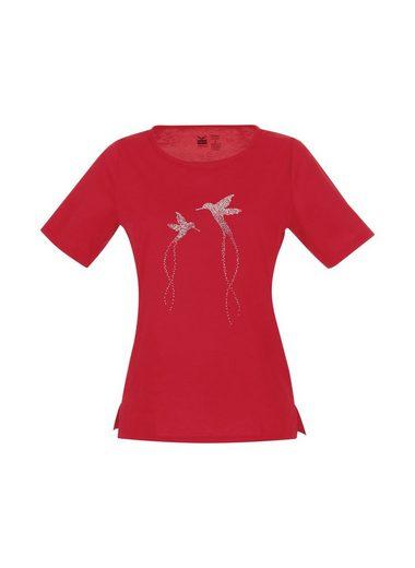 TRIGEMA T-Shirt Glitzer-Vogel