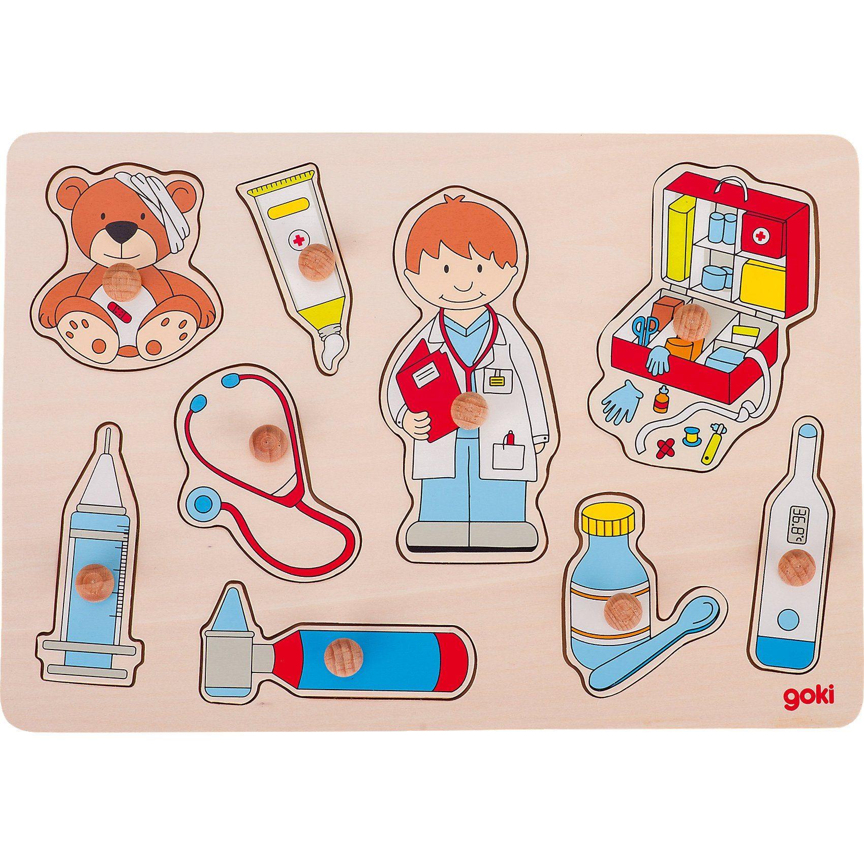 goki Steckpuzzle Besuch beim Arzt