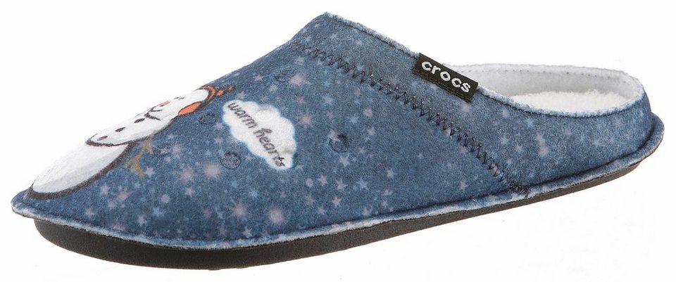 crocs classic graphic slipper clog mit warmfutter online kaufen otto. Black Bedroom Furniture Sets. Home Design Ideas