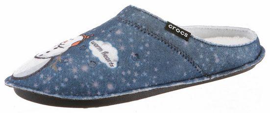 Crocs Classic Graphic Slipper Clog, mit Warmfutter
