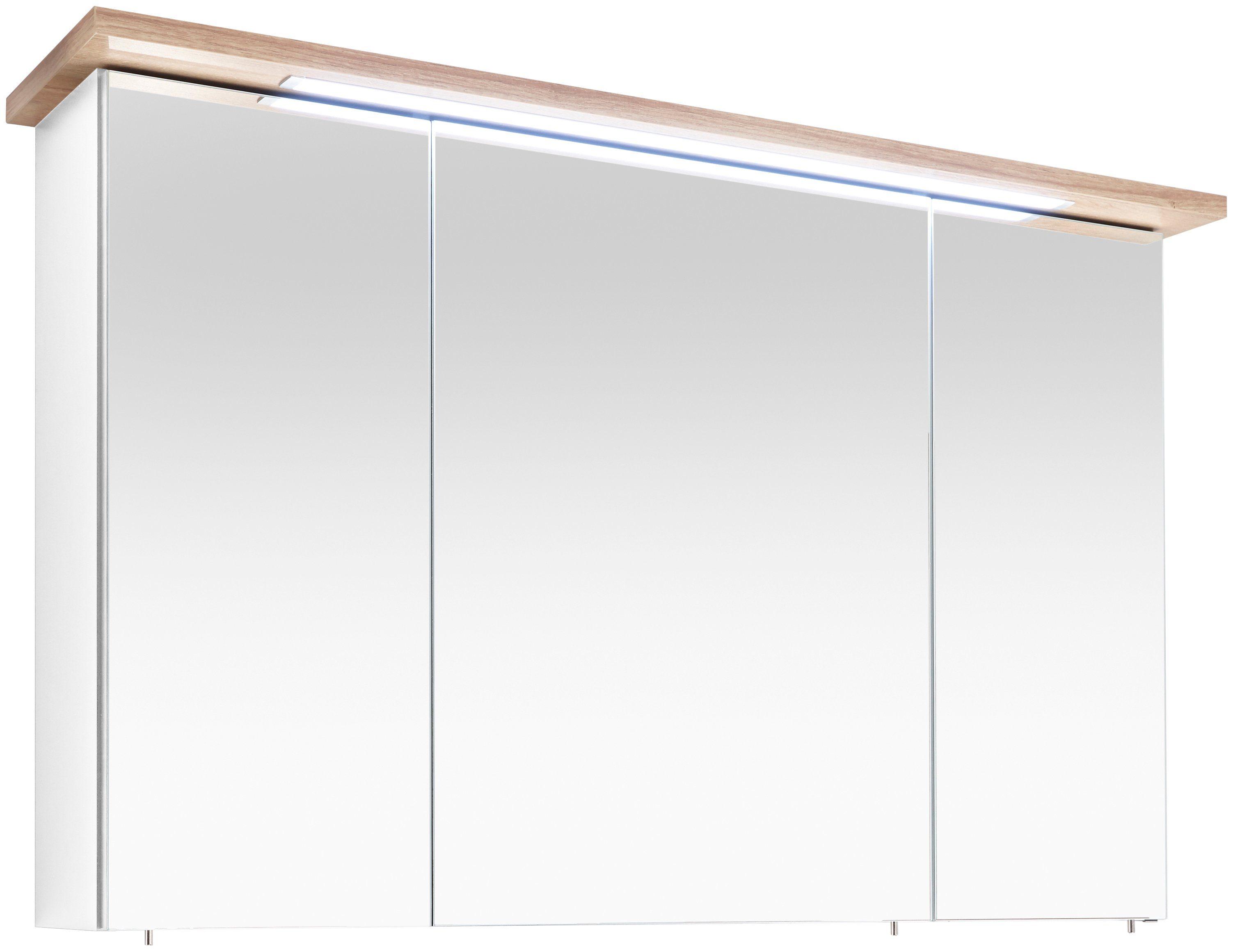 PELIPAL Spiegelschrank »Noventa: Spiegelschrank Cesa III«, Breite: 115 cm