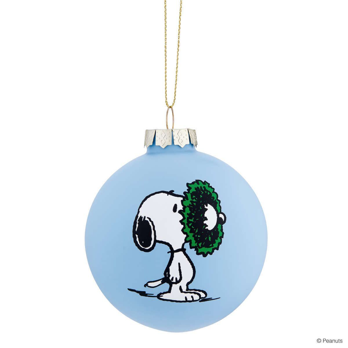 BUTLERS PEANUTS »Glaskugel Snoopy/Kranz«