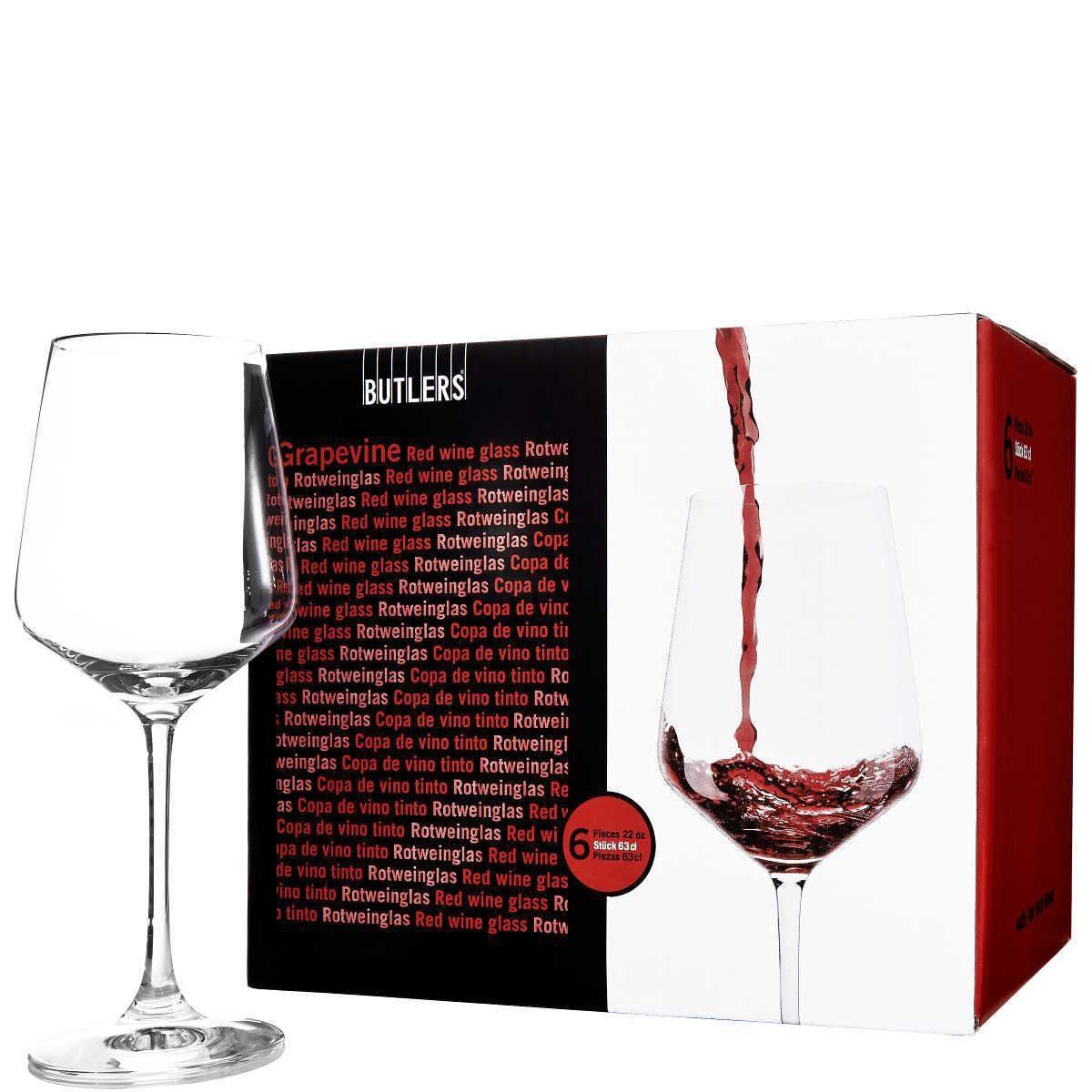 BUTLERS GRAPEVINE »Rotweinglas 6er Set«