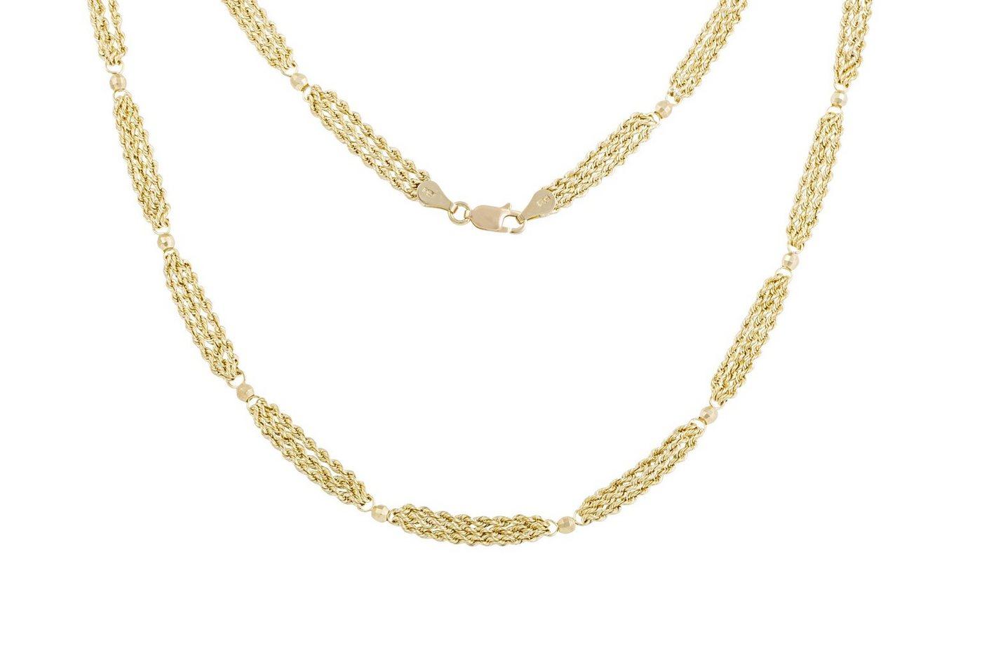 Firetti Collier »Goldkette« mit facettierten Kügelchen | Schmuck > Halsketten > Goldketten | Goldfarben | Firetti