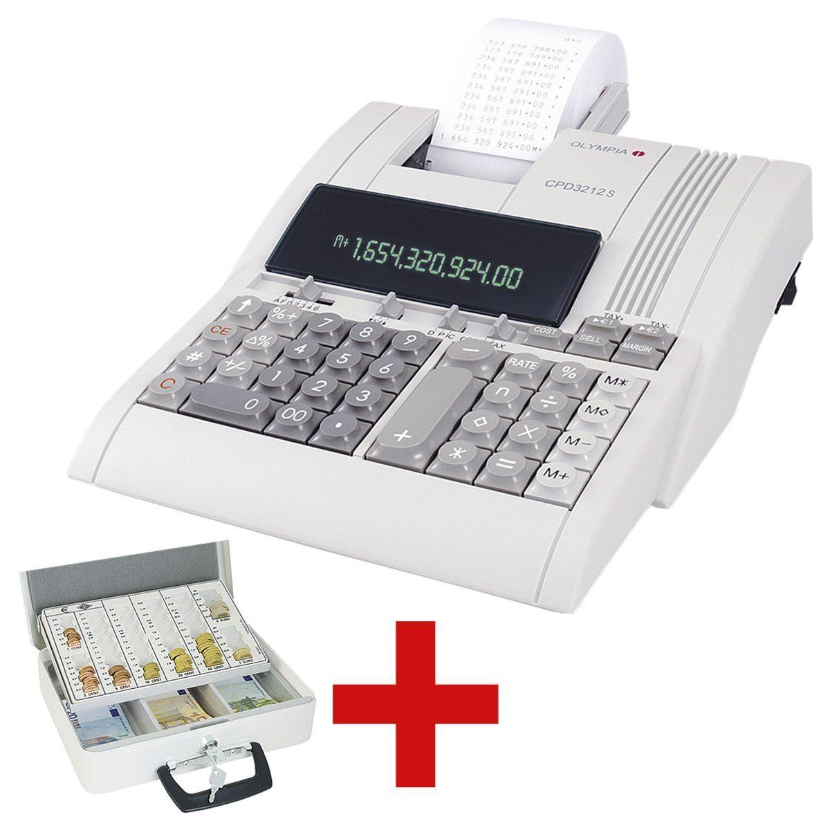 OLYMPIA OFFICE Druckender Tischrechner inkl. Geldkassette »CPD-3212S« 1 Set