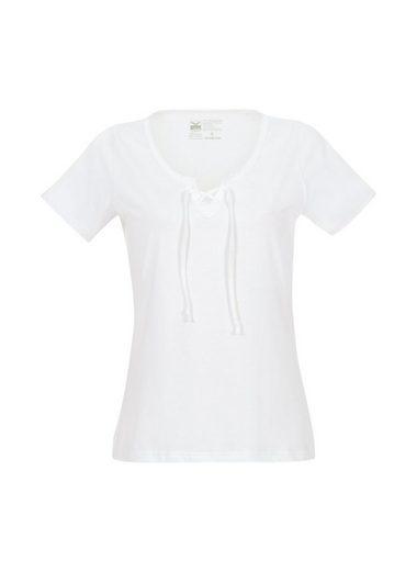 TRIGEMA Shirt mit Schnürung Biobaumwolle