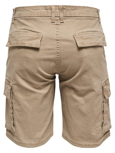 ONLY & SONS Einfarbige Cargoshorts
