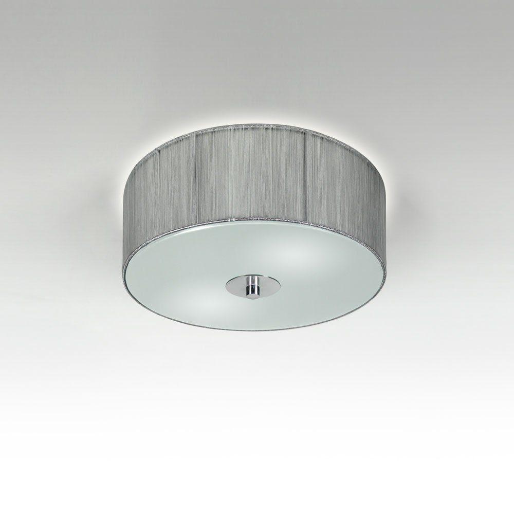 s.LUCE Deckenleuchte »Twine S Stoff-Ø 30cm Silberfarben«