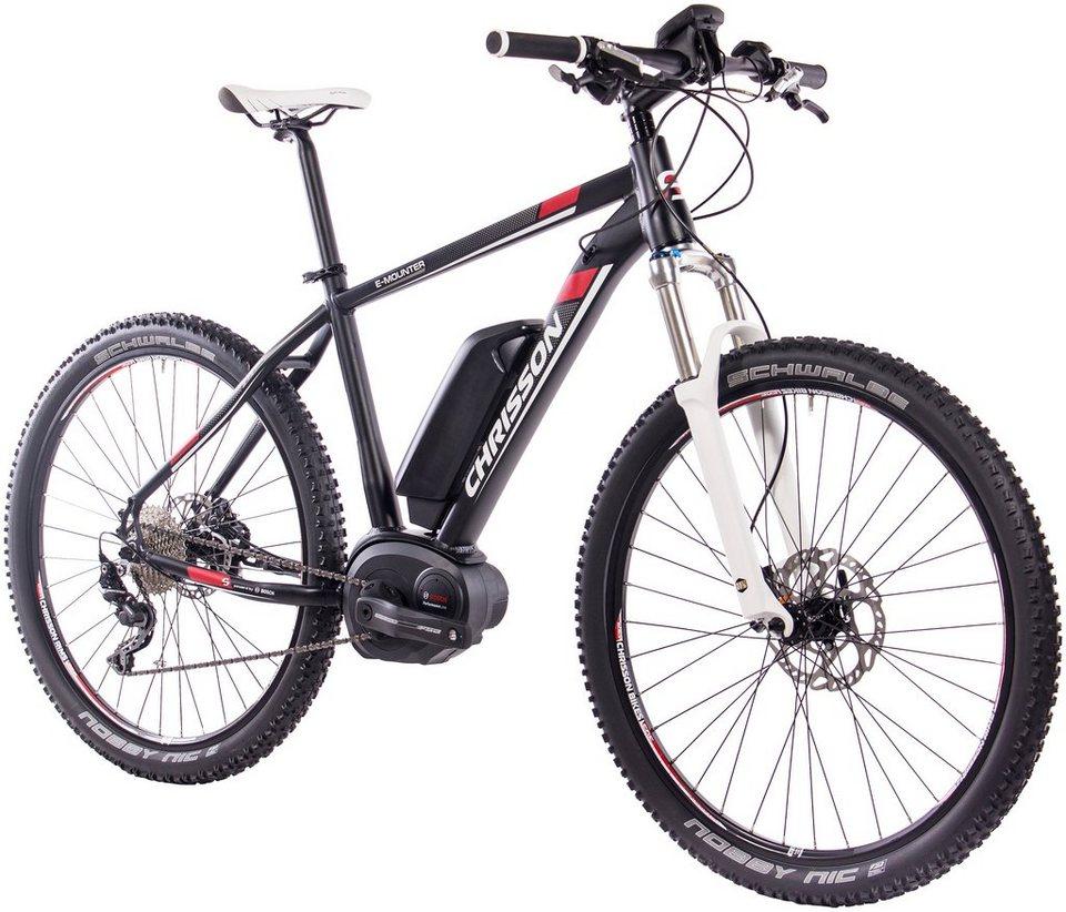 CHRISSON E-Bike Mountainbike »E-MOUNTER«, 27,5 Zoll, 10 Gang ...