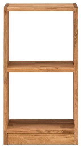 Premium collection by Home affaire Regalelement »Ecko«, aus schönem massivem Wildeichenholz, Breite 47 cm, mit 2 Fächern