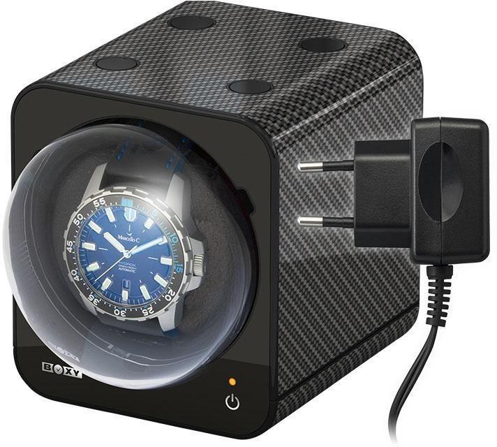 Boxy Uhrenbeweger »Fancy Brick, 309407«, mit individuell programmierbarem Motor | Uhren > Uhrenbeweger | Schwarz | Boxy