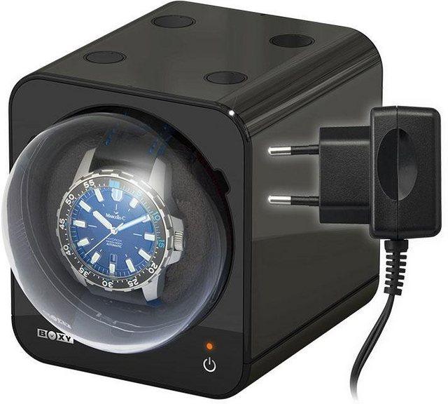 Boxy Uhrenbeweger »Fancy Brick, 309394«, mit individuell programmierbarem Motor | Uhren > Uhrenbeweger | Schwarz | Boxy
