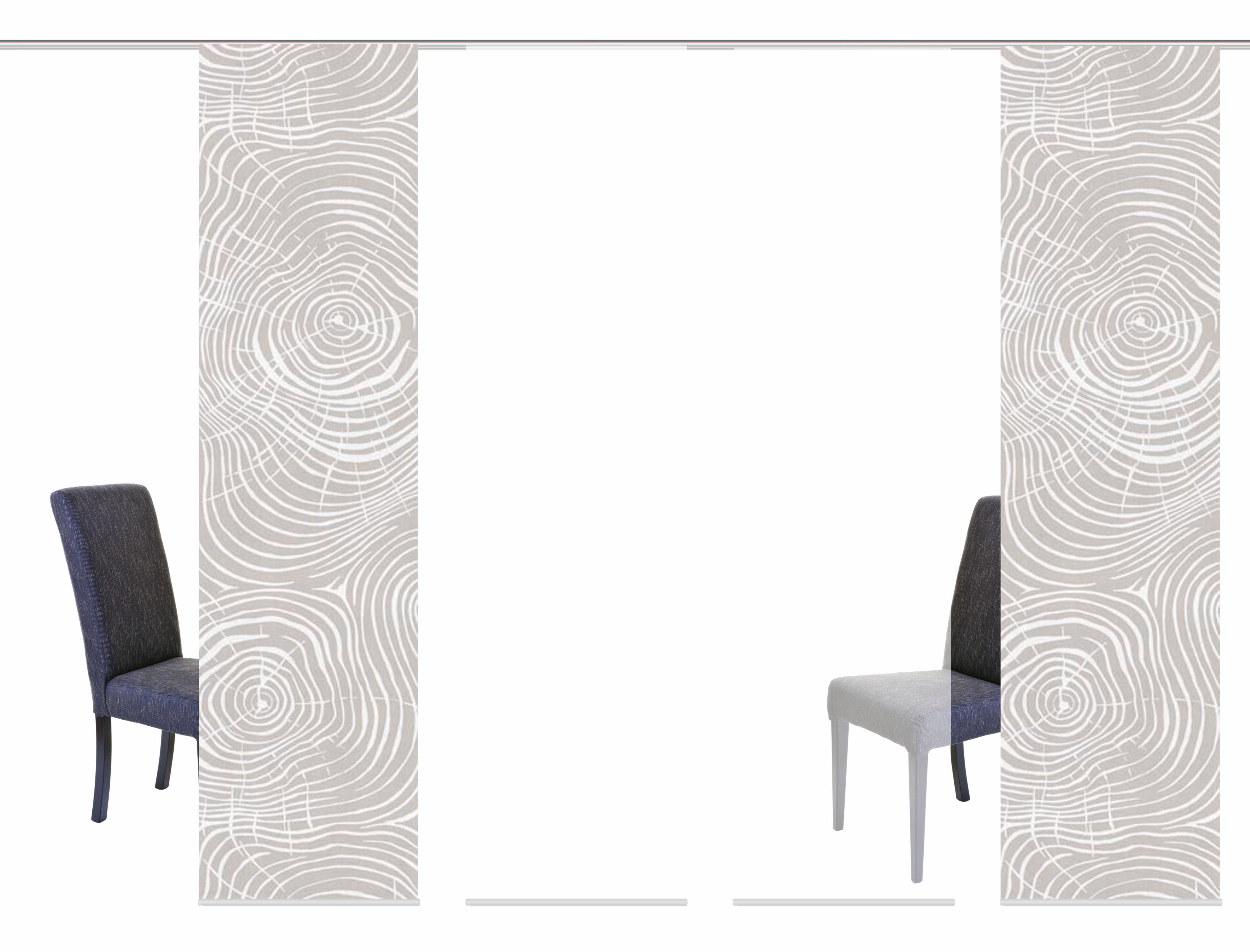 Schiebegardine »MADERAS«, HOME WOHNIDEEN, Klettband (4 Stück), inkl. Befestigungszubehör
