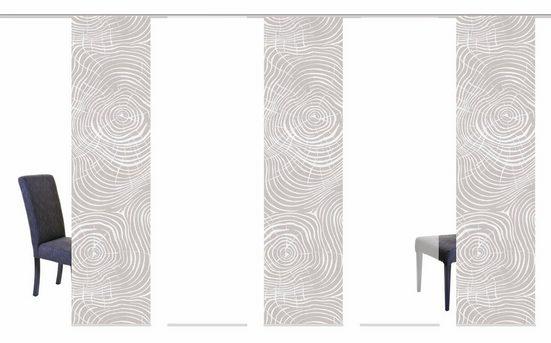 Schiebegardine »MADERAS«, HOME WOHNIDEEN, Klettband (5 Stück), HxB: 245x60, inkl. Befestigungszubehör