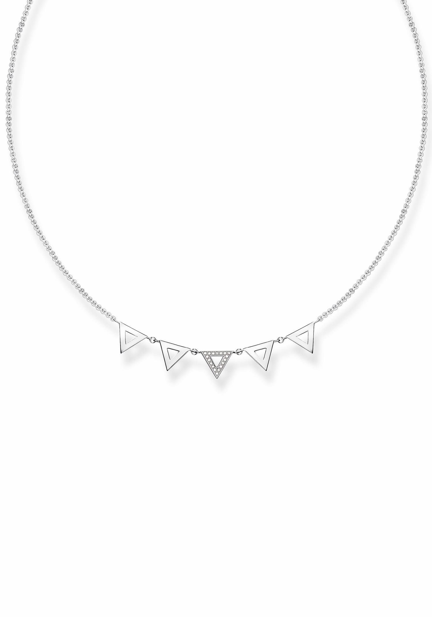 THOMAS SABO Collier »Dreieck, D_KE0009-725-14-L45v«, mit Diamanten