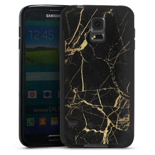 DeinDesign Handyhülle »BlackGoldMarble Look« Samsung Galaxy S5, Hülle Gold & Kupfer Marmor Muster