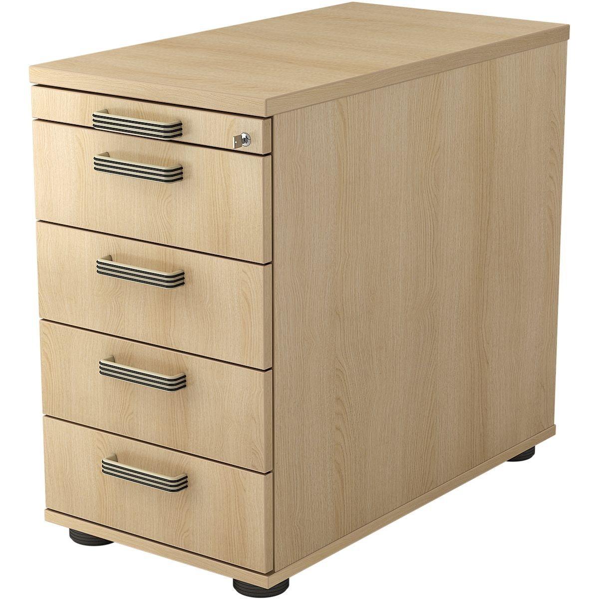 HAMMERBACHER Standcontainer mit klassischen Schubladen »R-Line« | Büro > Büroschränke > Container | Abs | HAMMERBACHER