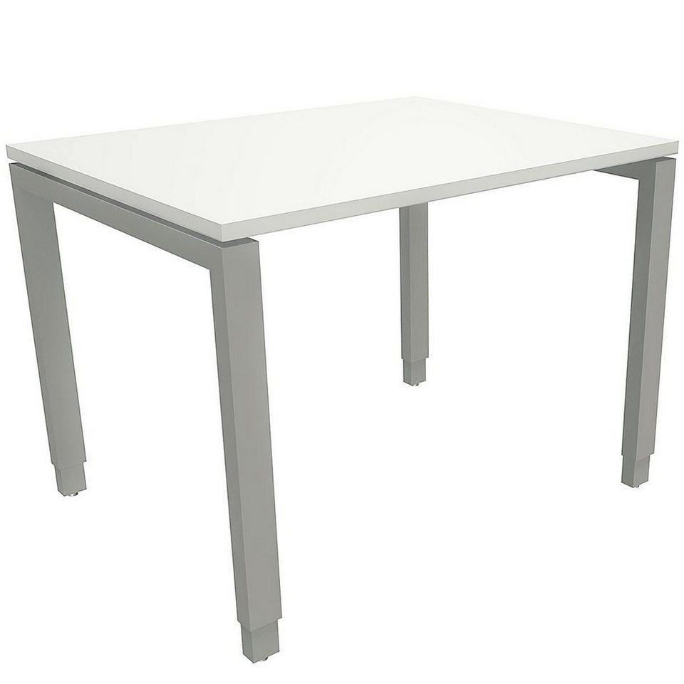 Fmbueromoebel Manuell Höhenverstellbarer Schreibtisch 100 Cm 4 Fu