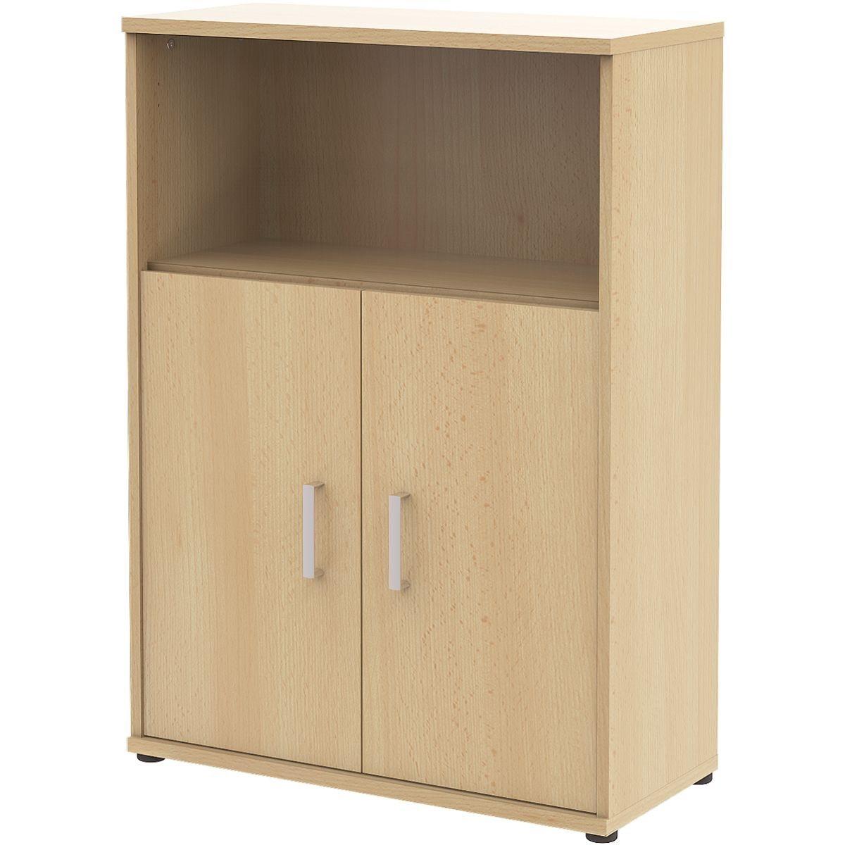 Wellemöbel Aktenschrank breit 3 OH mit 1 kleinem Türenpaar »Alto« | Büro > Büroschränke > Aktenschränke | Abs | Wellemöbel