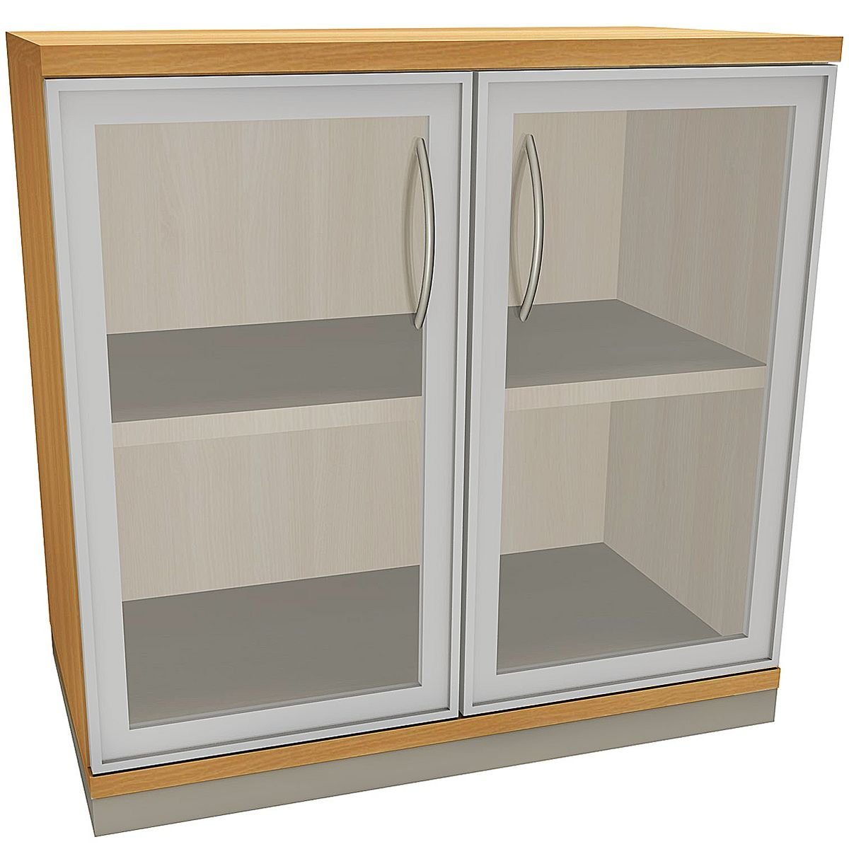 FMBUEROMOEBEL Aktenschrank 2 OH klare Acrylglastüren »Sidney« | Büro > Büroschränke > Aktenschränke | FMBUEROMOEBEL