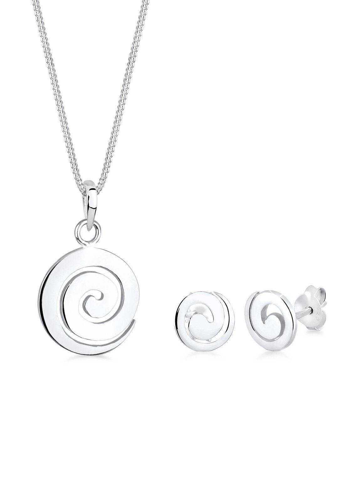 Elli Set: Schmuckset »Spirale Rund Kreis 925 Sterling Silber« 2 tlg.