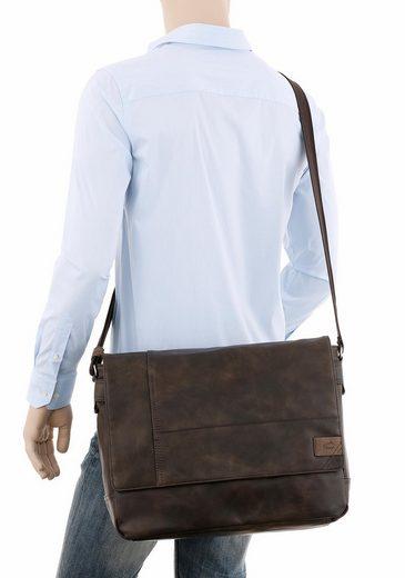 Laptopfach Mit Messenger Camel Active Bag »laos« Gepolstertem BOnYHw