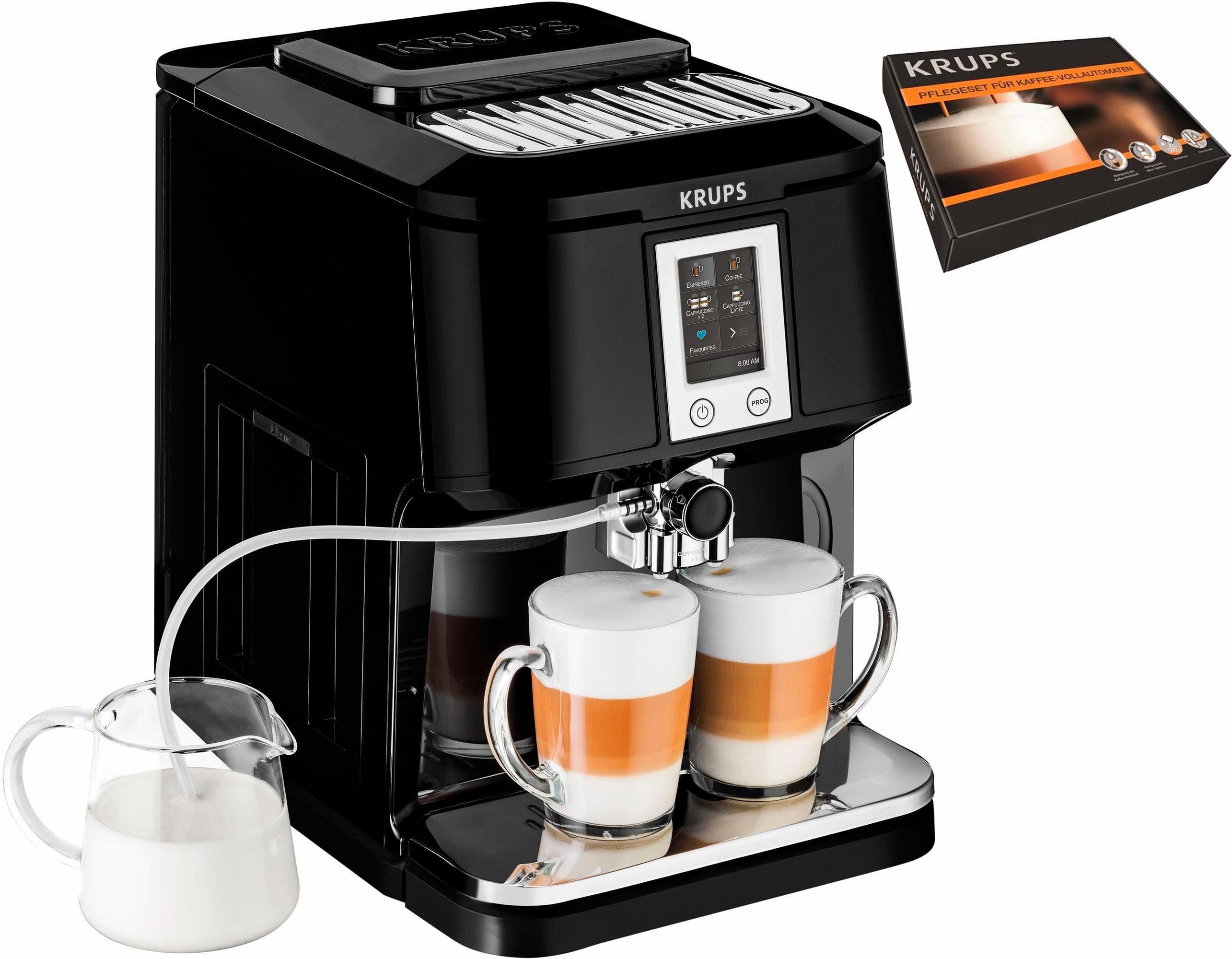 Krups Kaffeevollautomat EA8808 2-in-1 Touch Cappuccino, 1,7l Tank, Kegelmahlwerk, inkl. Krups Pflegeset im Wert von UVP 69,99